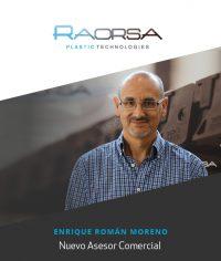 Raorsa, tecnología para el plástico, Asesor Comercial, Raorsa Maquinaria, Enrique Román Moreno, Rafael Ortega Luque,
