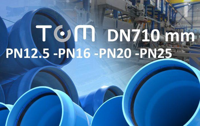 Molecor, redes hidráulicas, Tubería TOM, Tubería TOM de PVC-O DN710 mm,