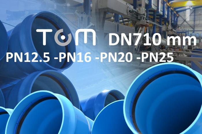 Molecor presenta la tubería TOM de PVC-O DN710 mm