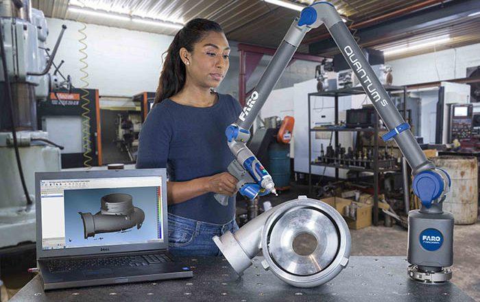 Faro, QuantumS FaroArm, sistema de medición, control de la producción, precisión, escaner, portabilidad, durabilidad, brazo de inspección, medición y control, visualInspect, Axular Etxabe