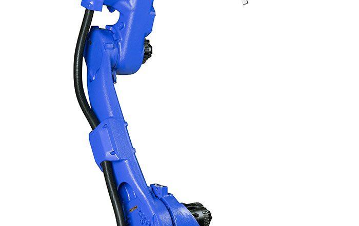 Yaskawa, robot, Robot GP25 de Yaskawa, robot GP25 Yaskawa Motoman, brazo de cuerpo hueco, aplicaciones de manipulación y envasado, carga útil de 25 kilos, controlador YRC1000, robots de la serie GP