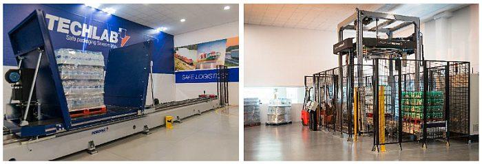 Robopac, Techlab, laboratorio tecnológico, castellón, robopac iberia, estabilidad de cargas, servicio, embalaje, envolvedora, film plástico, tecnología cube, simulador de transporte por carretera