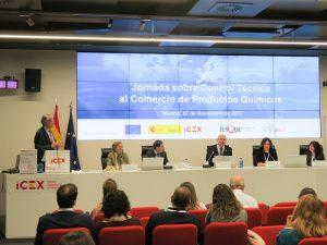 Feique ICEX-Invest in Spain Control Técnico en la Exportación de Productos Químicos Agencia Europea de Productos Químicos (ECHA) Ministerio de Economia Industria y Competitividad (MINECO) Reglamento de Consentimiento Mutuo para la importación y exportación de productos químicos peligrosos