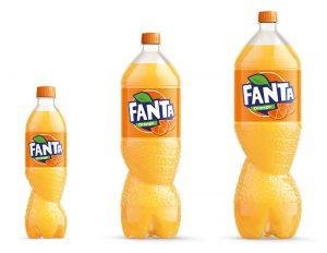 Fanta, botella, PET, plástico, Spiral, Coca-Cola, sidel, nueva botella