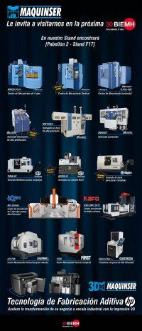Maquinser, BIEMH 2018, feria de bilbao, fabricación aditiva, máquina herramiento, centro de mecanizado, centro de torneado, impresora 3D HP