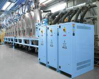 Moretto, NPE 2018, mezcladora gravimétrica gravix, controlador de temperatura Teko, sistema de secado Eureka Plus, transporte de resina, trasnformadores, plásticos