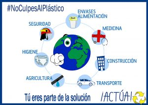 Campaña plástico, aimplas, anarpla, avep, plasticseurope, cicloplast, verdades sobre plásticos, #Noculpesalplastico, plásticos