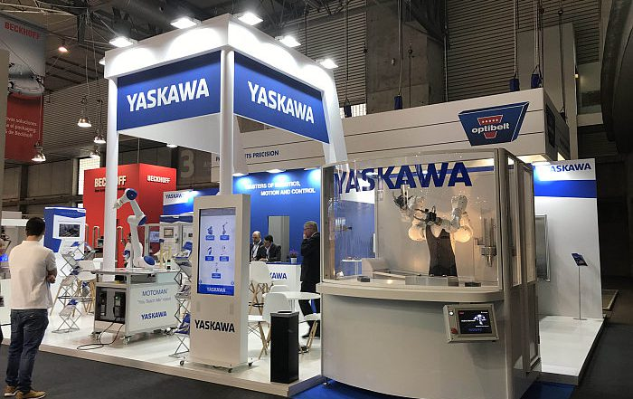 yaskawa, robots, packaging, hispack 2018, airGrip, botellas, robots, robobar, novedades, robótica, feria hispack, plásticos, botellas