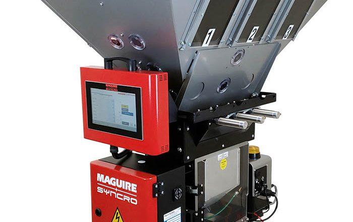Maguire, maguire+syncro, mezclador WXB, sistema de control, alimatic, extrusión, vacío