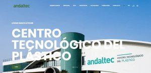 Andaltec, centro tecnológico, centro tecnológico del plástico, nueva web, martos