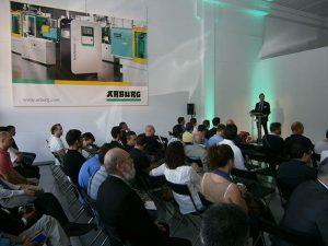 ARBURG, montcada i reixac, barcelona, inyectora de plástico, molde, allrounder, clientes, evento, open house