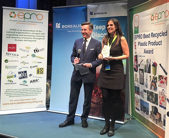 Cicloplast, EPRO (European Association of Plastics Recycling and Recovery Organisations), 8ª edición del Premio Europeo Best Recycled Plastic Product 2019, convocatoria, premios epro, identiplast