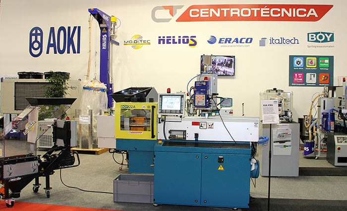 centrotécnica, 40 aniversario, promoción, descuentos, maquinaria para plásticos, periféricos, inyectoras DR Boy, rebajas, oktomat, moditec, molinos