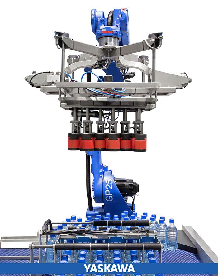 yaskawa, air grip, pinza para botellas, empack 2018, motoman hc10, cobot, robot colaborativo, packaging