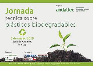 andaltec, centro tecnológico del plástico, martos, jornada de plástocos biodegradables, martos, imvolca, resinex, sobiocom, caos de éxito, bioplástico, degradabilidad
