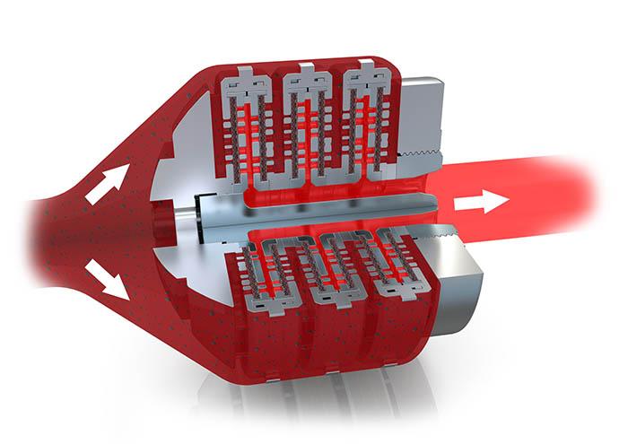 BKG FlexDisc, Nordson, cambiador de malla, filtrado, reciclado de plástico, botellas de pet, recicladores, flujo, filtro para cambiadores de mallas