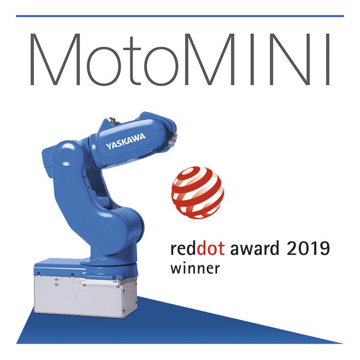 yaskawa, robot motomini, premio red dot, red dot award 2019, premio al diseño, diseño industrial, robot de tres ejes, motoman, yaskawa