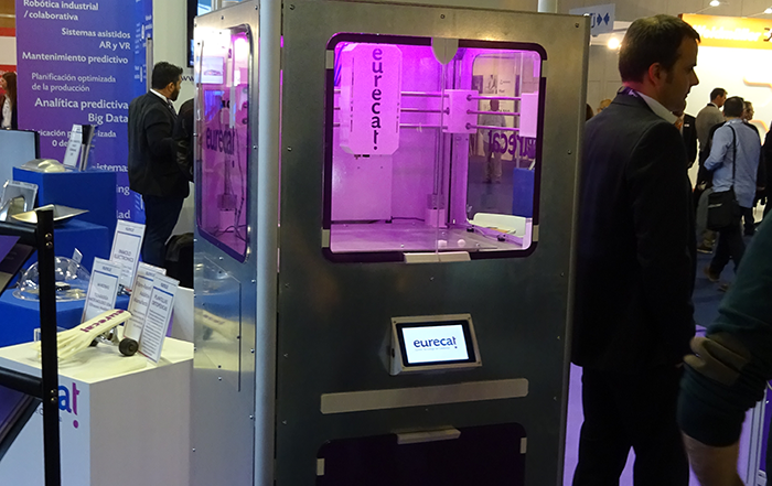 impresora 3D silicona eurecat, advanced factories 2019, sector médico, recreaciones de órganos