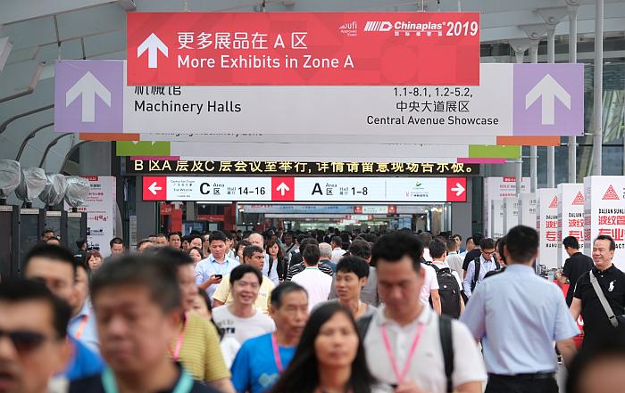 Chinaplas 2019, feria del plástico, expositores, visitantes, cifras finales, resultados, maquinaria para plástico, plásticos, china