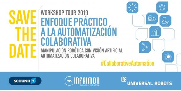 schunk, automatización, workshops, santander, san sebastián, mayo 2019, robótica colaborativa, universal robots, gripper EGP-C Co-act