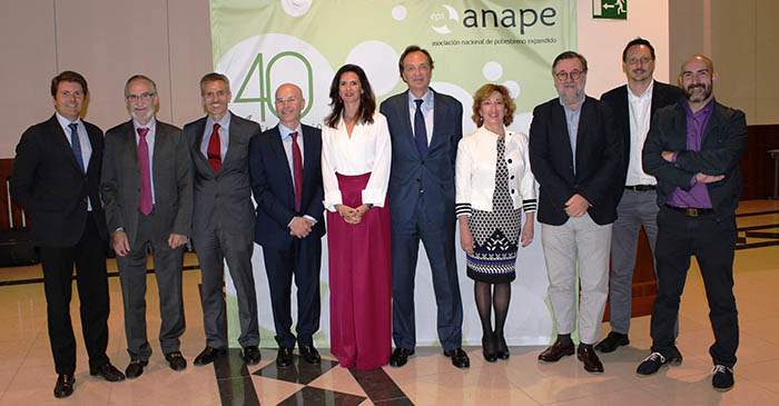 anape, 40 aniversario, eps, asociación nacional de poliestireno expandido, airpop, celebración, josé María Font, plásticos, anaip, industria, conmemoración