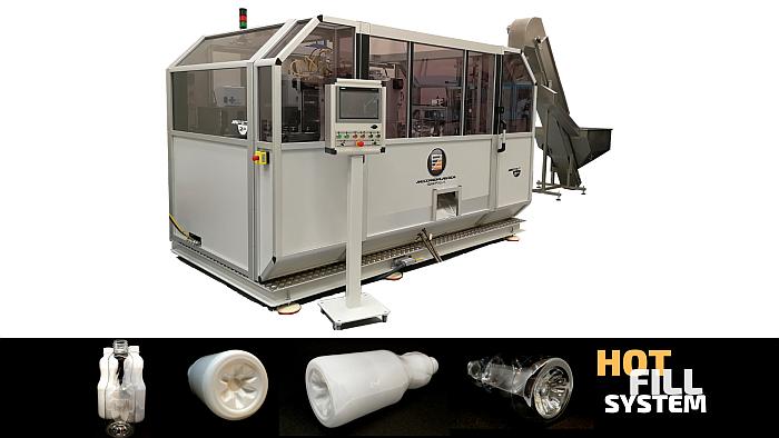 sopladora miPet, sistema de llenado caliente, hot fill, llenado en caliente, meccanoplastica, meccanoplastica ibérica, implementación, sopladora, botellas pet, llenado en caliente