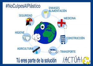 aimplas, anaip, anarpla, avep, cicloplast, plasticseurope, dia mundial del medio ambiente, acciones, ventajas de los plásticos, residuos plásticos, reciclado de plásticos, economía circular, #Noculpesalplastico, #diseñadosparaproteger