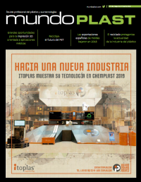 Mundoplast 58, revista mundoplast, número 58 de la revista mundoplast, publicación, lanzamiento, ya está disponible, disponibilidad, automoción, aimplas, inauguración HP, aplicaicones médicas, moldes, reciclado de plásticos, PET, chemplastexpo 2019, moulding Expo 2019