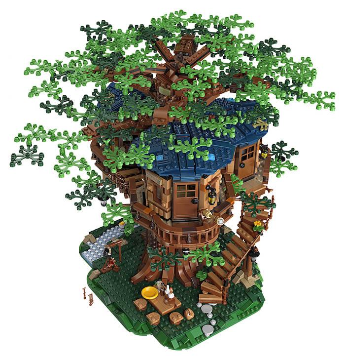 La casa del árbol de Lego
