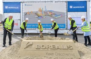 Inauguración de las obras de la nueva planta de Borealis en Kallo.
