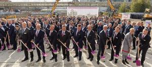Inauguración de las obras de la planta de PA 12 de Evonik en Marl.
