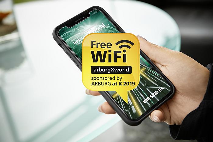 wifi gratis de arburg en la k2019