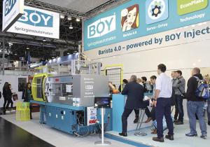 Aplicación de industria 4.= en el stand de Boy en la K2019