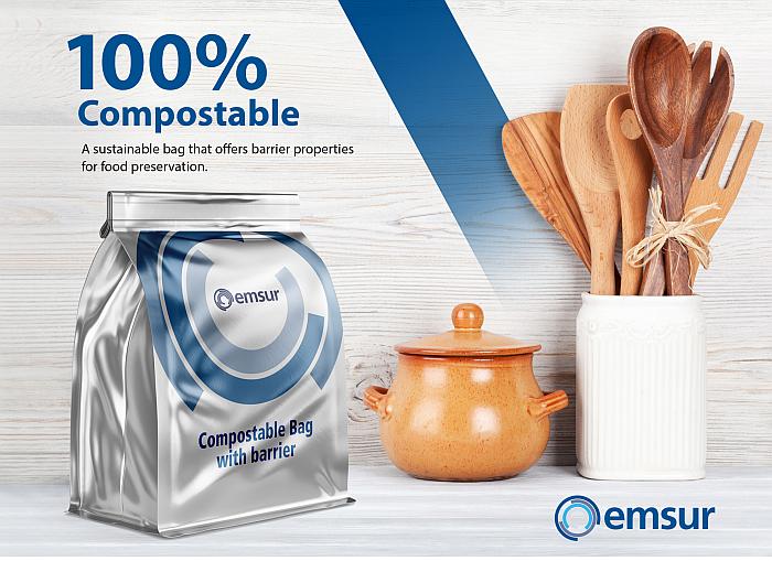 bolsa compostable barrera de Emsur
