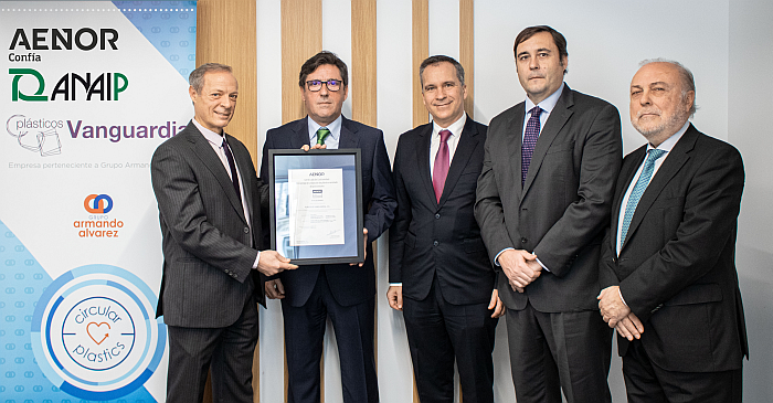 certificado aenor Plásticos Vanguardia