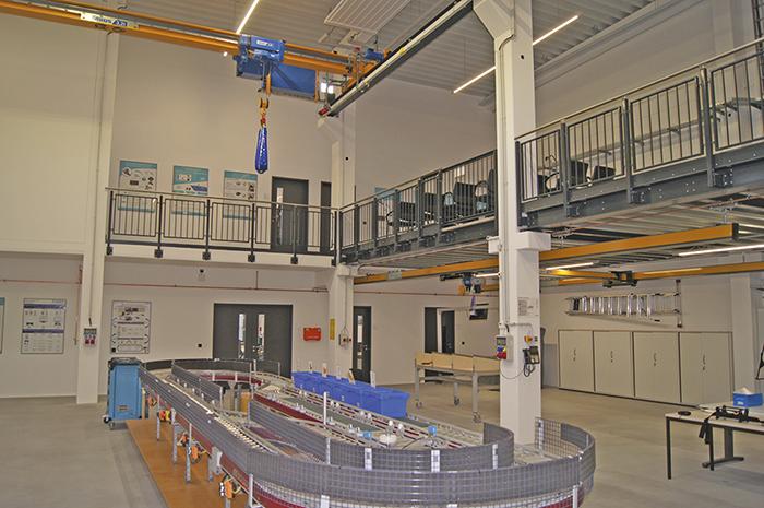 Los puentes grúa Abus, en la Universidad Técnica de Hamburgo