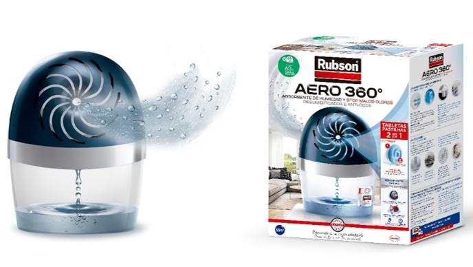 Rubson Aero 360, deshumidificador plástico reciclado, henkel economía circular