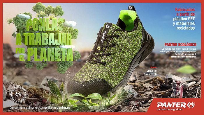 zapatillas panter vita eco, calzado de seguridad con pet reciclado, rpet