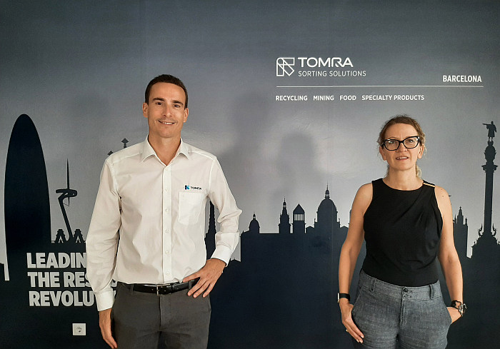 Eduardo Morán y Judit Jansana Tomra RAEE